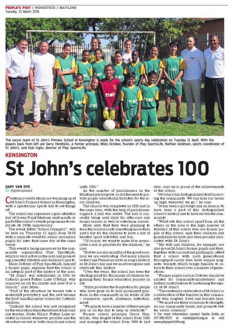 St John's celebrates 100