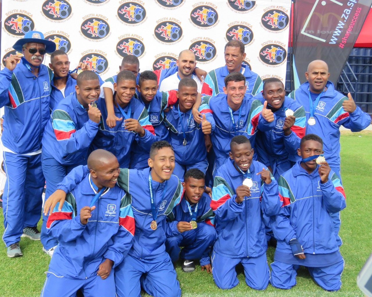 GOLD MEDAL FOR WP DISABLED SOCCER TEAM, 7 IN SA SQUAD FOR SPAIN